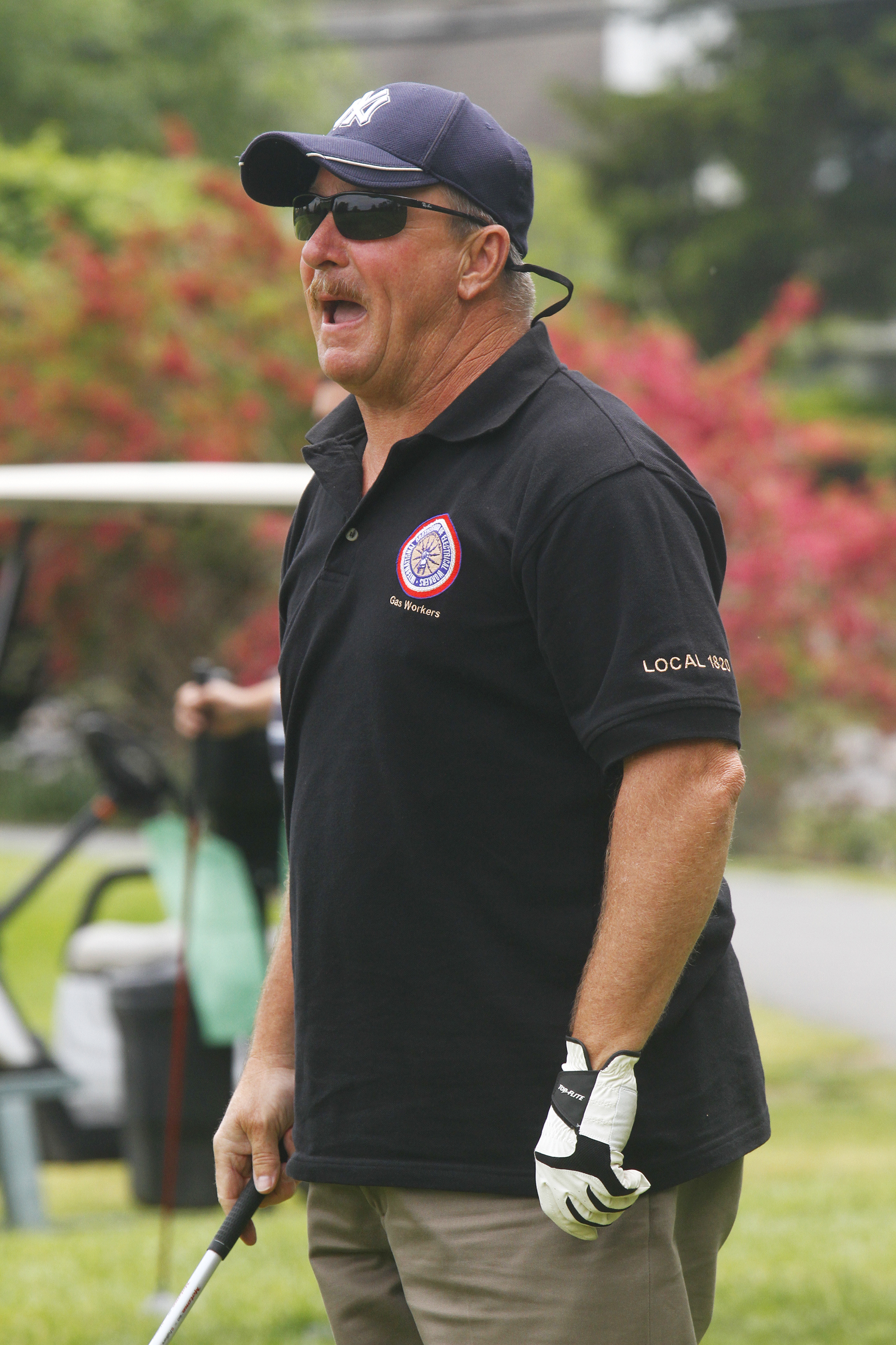 Wayne P. DeAngelo Golf Outing, May 24, 2017, Mountain View Golf Club. NJ Natural Gas Local 1820 President Jeff Bollermann loves his 'mulligan.'